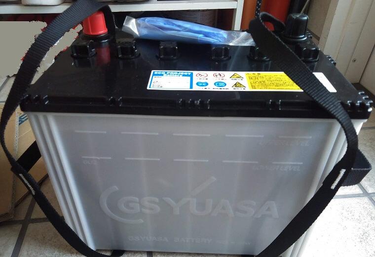 梱包から取り出した再生バッテリー