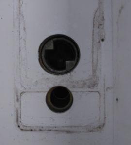 鍵のシリンダー外部