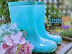 水色の可愛い長靴